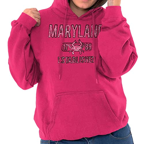 9bd3713164c Brisco Brands Maryland State Pride T Shirt State Flag USA Crab Shirt Gift  Hoodie