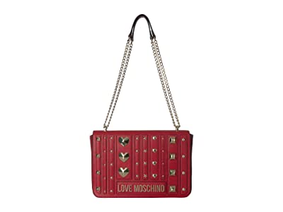 LOVE Moschino Love and More Shoulder Bag (Red) Handbags
