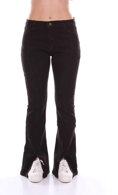 Jovonna London Women's BOBOJblack Black Cotton Jeans