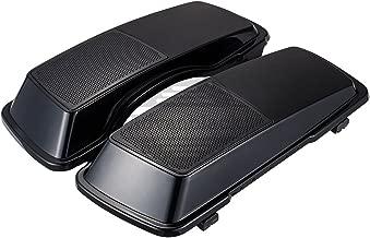 Midnight Pearl 6 x 9 Saddlebag Speaker Lids Fit for 1993-2013 Harley Touring Street Glide FLH FLHX Hard Saddlebags
