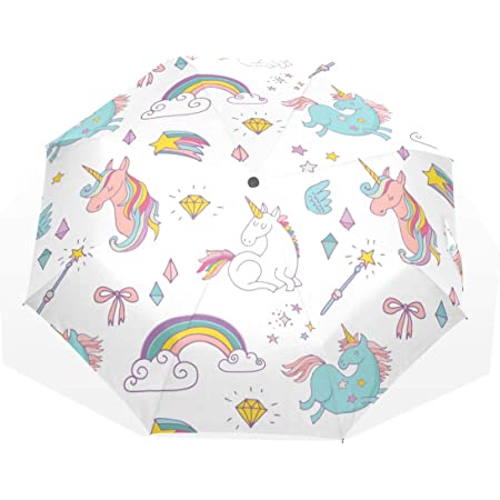 Isaoa Automatique Voyage Parapluie Pliable Compact Parapluie Nuages Funny Dinosaurs Coupe-Vent Ultra l/éger Protection UV Parapluie pour Homme ou Femme
