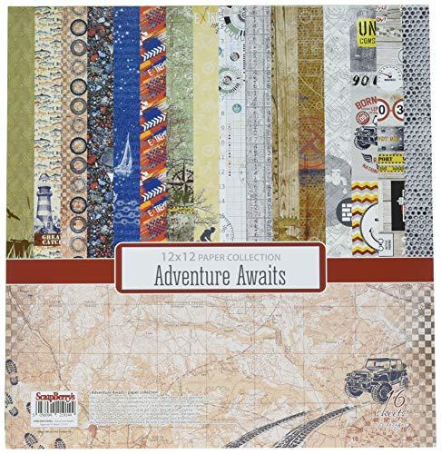 scrapberry Abenteuer erwartet Papier Pack 30,5x 30,5cm