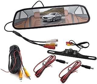 """RUNGAO 4.3"""" Car TFT LCD Rear View Monitor Mirror Display Reverse Backup Camera Set"""