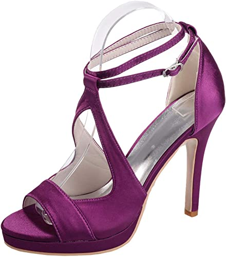 XYZJIA Chaussures Les Les Les dames Chaussures Sandales à Talons Hauts Sandales à Talons Bas, Violet, 36