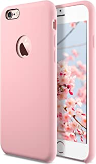 Coolwee Liquid Silicone Rubber iPhone 6s Plus case Shockproof with Soft Microfiber Cloth Cushion Gel Case for Apple iPhone 6 Plus 5.5 inch Light Pink