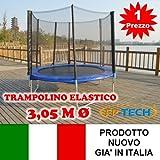 FP-TECH Trampolino Elastico da Giardino Tappeto Elastico Esterno Sport Rete (305cm - 10FT)