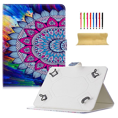 Dteck - Funda Universal para Samsung Galaxy Tablet, Apple iPad Mini, iPad 9.7, Amazon Kindle, Google Nexus y Más Tablets DE 6,5 a 10,5 Pulgadas 02 Sun Flower For 9.5-10.5 Inch Tablet