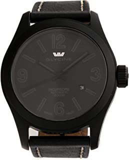 Glycine Incursore Mechanical (Automatic) Black Dial Mens Watch 3874-999-LB9B (Certified Pre-Owned)