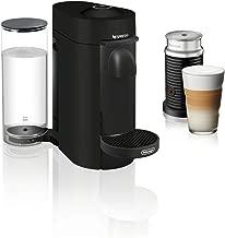 Nespresso by De'Longhi ENV150BMAE VertuoPlus Coffee and Espresso Machine Bundle with Aeroccino Milk Frother by De'Longhi, Black Matte