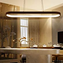 Modern LED Pendant Lights, Metal Island Hanging Lamp for Dining Table, Pendant Lamps Ceiling Lighting for Dining Room, Liv...