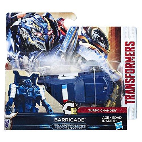 Transformers C1313ES1 de Hasbro, Figura de acción Barricade, Turbo, película Transformers 5