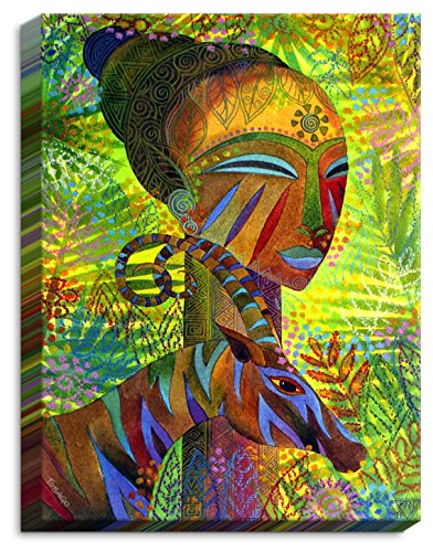 Dia Noche CAN-JenniferBairdAfricanQueens4 Canvas Wall Art Framed and Unframed, 24 x 18