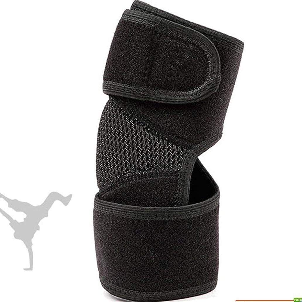中に抽象化吸う調節可能な 腕陸上競技の保護者のスポーツ保護するクラッシュ耐性の弾力性エルボーブレースランスポーツマンディフェンダー - ブラック