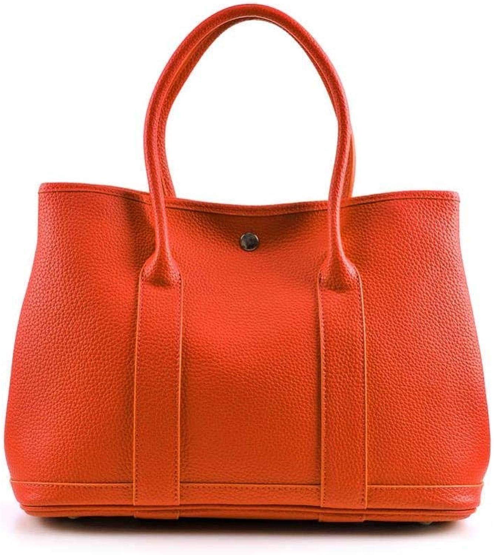 Bloomerang Genuine Real Leather Garden Party Tote  Women Famous Brand Candy color Casual Shopper Shopping Hobo Shoulder Bag Handbag Bolsa color orange Large