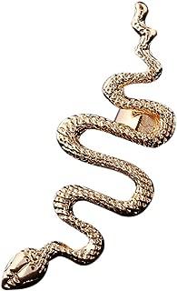 Qtalkie Cool Stylish Retro Vintage Punk Winding Snake Left Ear Cuff Wrap Earring Gold