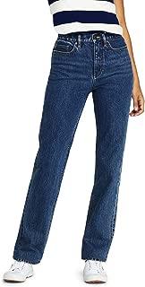 Lands' End Women's High Rise Straight Leg Jeans