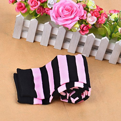 1 Pair Thigh High Socks Over Knee Girls Fringe Socks Pink, Socks, Clothing Shoes & Accessories (Pink)