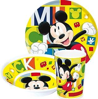 mehrfarbig Elemed 1321 Umweltfreundlicher Bambus Disney Teller mit Micky Maus