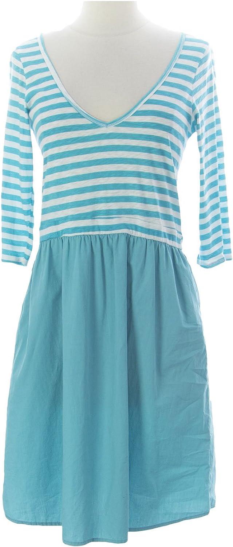 VELVET by Graham & Spencer Women's Anette VNeck Dress Small Turquoise