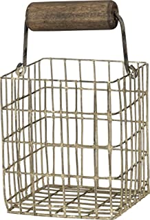 Primitives by Kathy 38022 Farmhouse Style Square Wire Basket, Small
