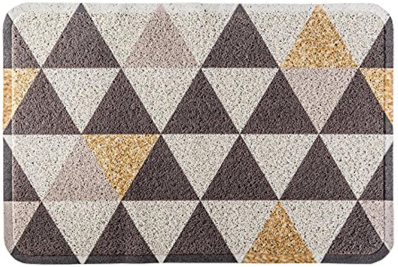 Lattice Entrance Door mat, Nordic Geometric Household dust Removal Floor mat Simple Modern Living Room Carpet Home Kitchen Antiskid Foot mat-A-60x90cm(24x35inch)