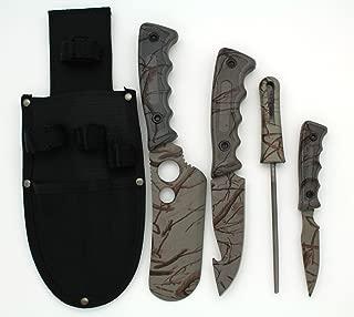 Snake Eye Tactical 5 Piece Big Game Hunting/Skinning Knife Set Grey Camo