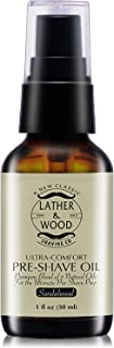 Best Pre-Shave Oil, Sandalwood, Premium Shaving Oil for Effortless Smooth Irritation-Free Shave. 1 Oz