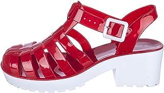 856c2c90df23 Women s Strawberry-01 Low Heel Jelly Sandal Red