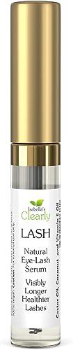 Clearly LASH, Natural Eyelash and Eyebrow Growth Serum | Castor, Coconut, Vitamin E Oils | Grow Longer, Fuller, Enhan...