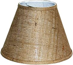 A Ray Of Light 6129BUR 6-Inch by 12-Inch by 9-Inch Brown Burlap Empire Hardback Shade