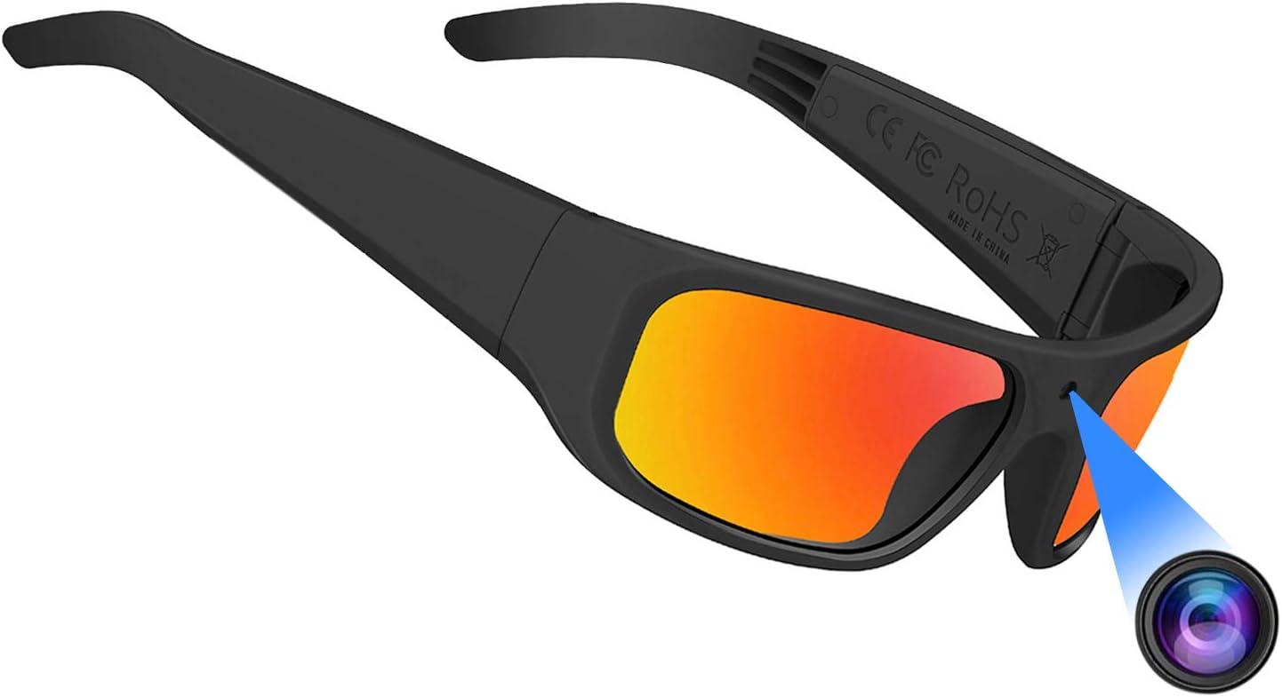 32G OhO sunshine Video Sunglasses,Super Slim 1080P Outdoor Sports Camera Glass