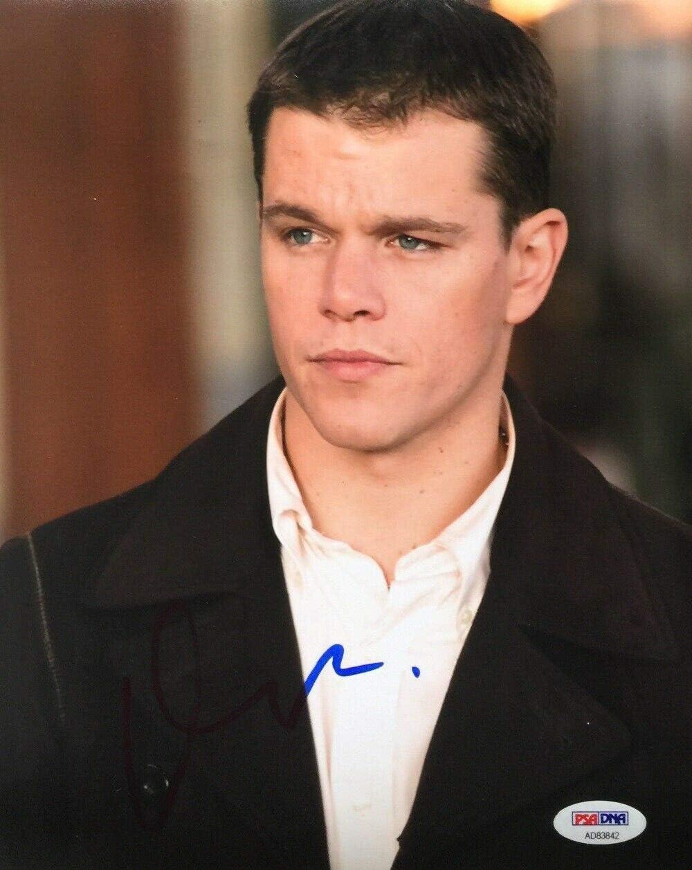 Matt Damon Autographed Signed PSA 8x10 AD83842 Dedication Photo Direct sale of manufacturer