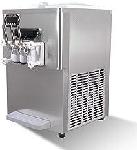 Machine à crème glacée molle commerciale de comptoir 3 saveurs, machine à crème glacée au yaourt mélangé 2 + 1