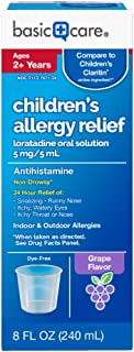 ضد آلرژی کودکان Basic Care محلول خوراکی لوراتادین 5 میلی گرم با حجم 8 اونس