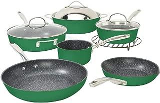 Curtis Stone Dura-Pan Nonstick 10-Piece Chef's Cookware Set - Green