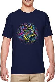 Lion Neon Head - Spirit Animal Courageous Men`s T-Shirt