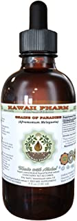Grains Of Paradise Alcohol-FREE Liquid Extract, Grains Of Paradise (Aframomum Melegueta) Seed Glycerite Hawaii Pharm Natural Herbal Supplement 2 oz
