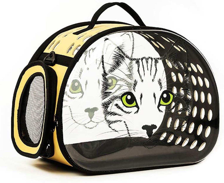 Pet Supplies Portable Cat Head Pattern Foldable Storage Space Pet Cabin Travel Bag Pgoldus Breathable Design Dog Cat Cage Handbag Backpack