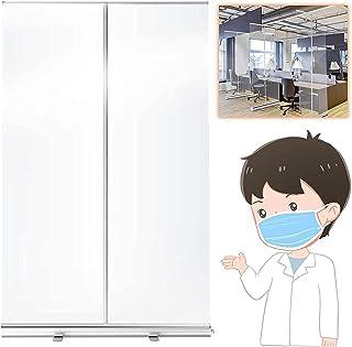 TOPNIU Écran de sécurité transparent de la bannière, écran d'hygiène portable, protecteur de protection sociale transparen...