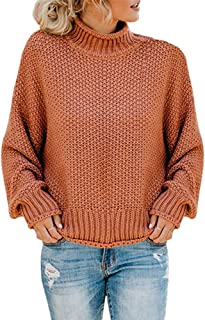 GOLDSTITCH Womens Turtleneck Oversized Sweaters Batwing Long Sleeve Pullover Loose Chunky Knit Jumper Jumper Tunic