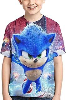 guoweiweiB Camisetas de Manga Corta para niño, Sonic The Hedgehog T Shirt Kids Youth Cartoon Anime Shirt Short Sleev for B...