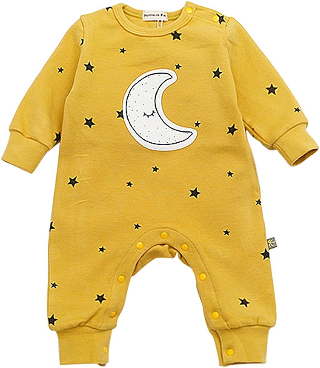 Bebone B/éb/é Barboteuse gar/çons Filles Pyjama /étoiles et Lune v/êtements de b/éb/é