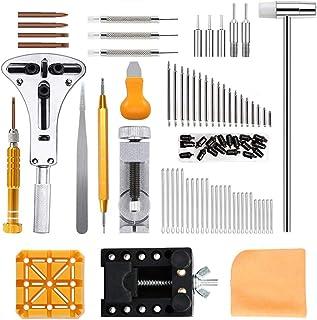 Viccess Orologi Strumenti e kit 210pcs Kit Riparazione Orologi Tool Kit Professionale di Riparazione Orologi Strumenti Oro...