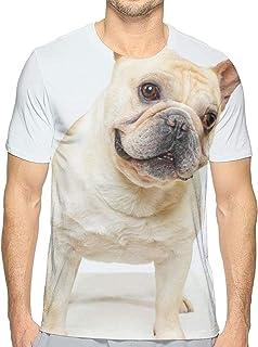 リス 分割 花 Tシャツ メンズ クルーネック 半袖シャツ 男子トップス 面白い柄 吸汗速乾 日常カジュア着 個性