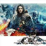 Puzzle Adulto de 1000 Piezas Game of Thrones Classic Cover Puzzle Adulto 1000 Piezas Juguetes intelectuales educativos del Equipo Familiar 52x38cm