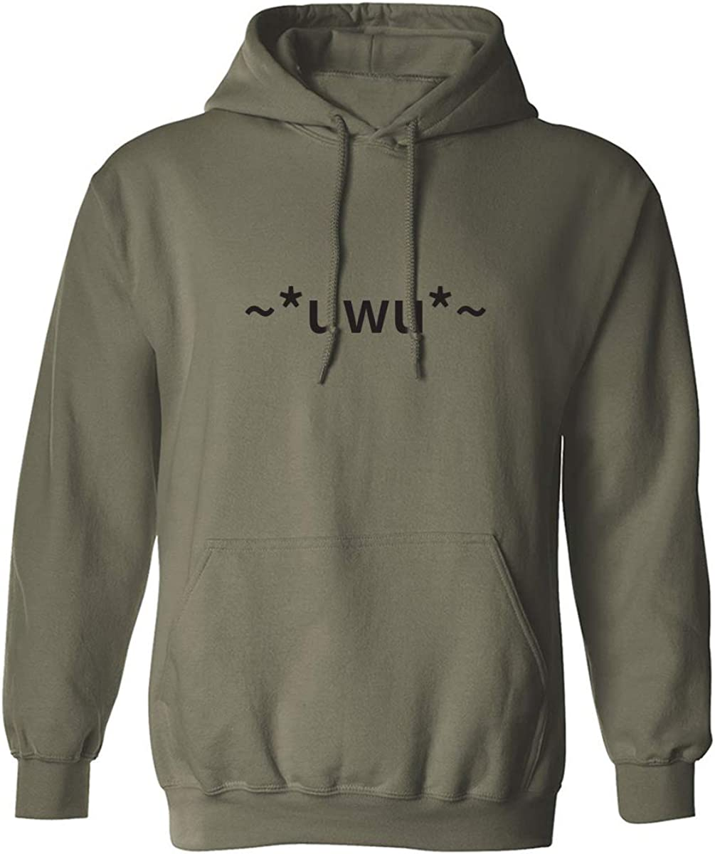 uwu Adult Hooded Sweatshirt
