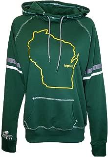 Womens Wisconsin Home Hoodie - WI Stadium Midweight Sweatshirt by Hometown Hoodies