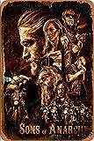 Cimily Sons of Anarchy Zinn Retro Zeichen Vintage Poster