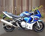 Venta caliente, azul blanco carenado para GSX650F GSX650 F GSX 650F GSXF650 GSXF 650 2008 2009 2010 2011 2012 2013 carenado de moto