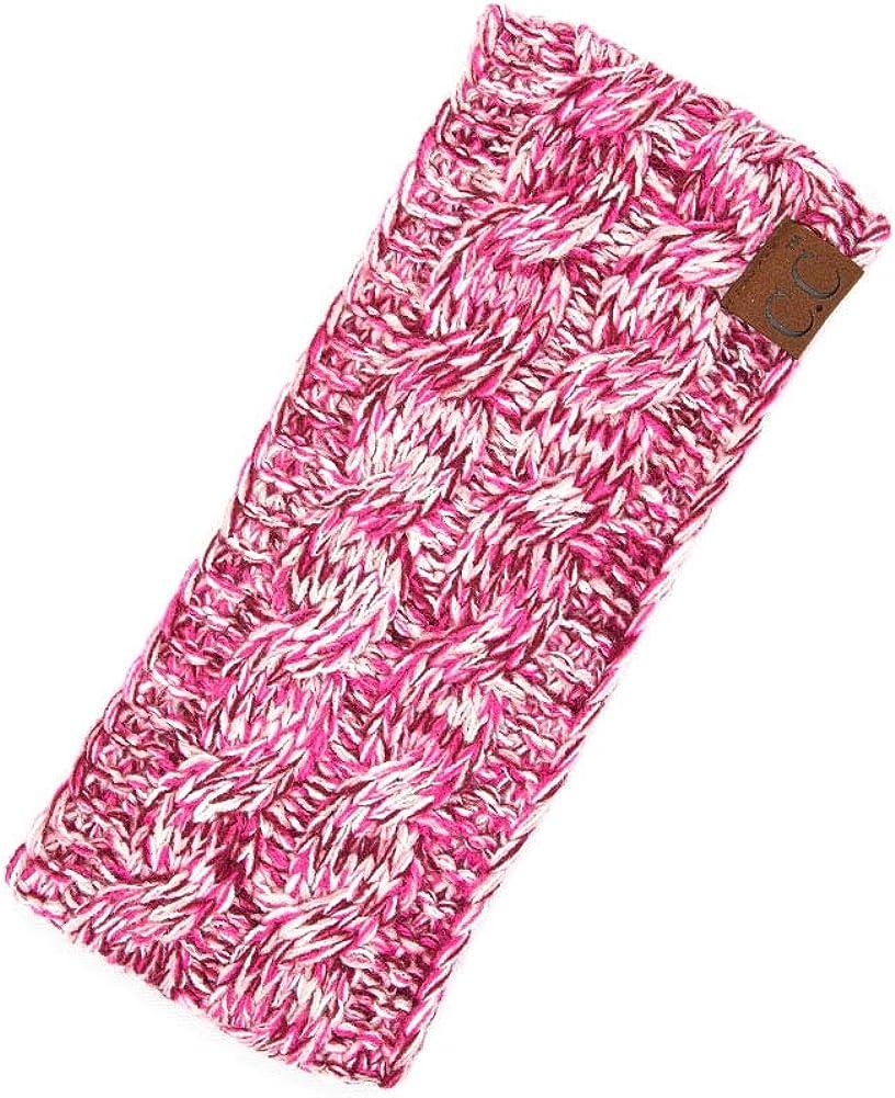 ScarvesMe Multi Tone Color Knitted Fuzzy Fleece Sherpa Lined Knit Headwrap Headband